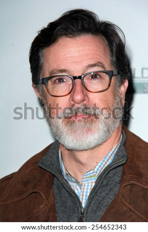 LOS ANGELES - FEB 19:  Stephen Colbert at the Oscar Wilde US-Ireland Pre-Academy Awards Event at a Bad Robot on February 19, 2015 in Santa Monica, CA - stock photo