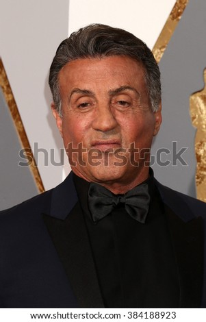 LOS ANGELES - FEB 28:  Sylvester Stallone at the 88th Annual Academy Awards - Arrivals at the Dolby Theater on February 28, 2016 in Los Angeles, CA - stock photo