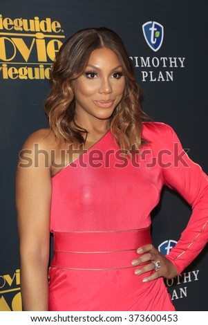 LOS ANGELES - FEB 5:  Tamar Braxton at the 24th Annual MovieGuide Awards at the Universal Hilton Hotel on February 5, 2016 in Los Angeles, CA - stock photo