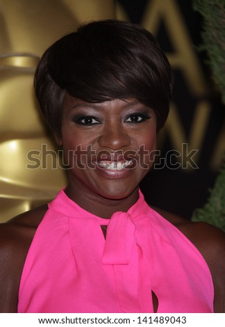 LOS ANGELES - FEB 6:  VIOLA DAVIS arrives to the 2012 Academy Awards Nominee Luncheon  on Feb 6, 2012 in Beverly Hills, CA - stock photo