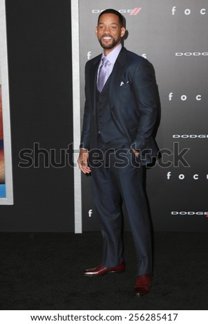 """LOS ANGELES - FEB 24:  Will Smith at the """"Focus"""" Premiere at  TCL Chinese Theater on February 24, 2015 in Los Angeles, CA - stock photo"""