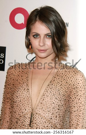 LOS ANGELES - FEB 22:  Willa Holland at the Elton John Oscar Party 2015 at the City Of West Hollywood Park on February 22, 2015 in West Hollywood, CA - stock photo