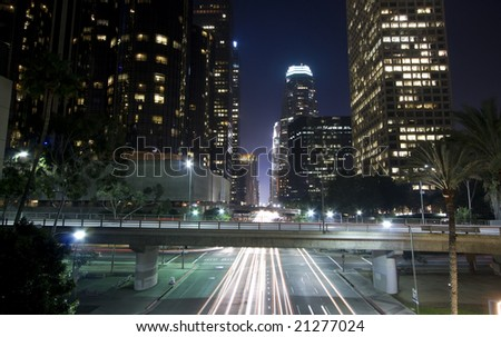 Los Angeles financial district - stock photo