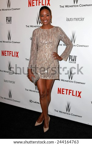 LOS ANGELES - JAN 11:  Aisha Tyler at the The Weinstein Company / Netflix Golden Globes After Party at a Beverly Hilton Adjacent on January 11, 2015 in Beverly Hills, CA - stock photo