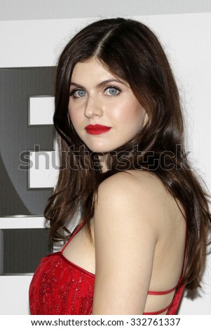 LOS ANGELES - JAN 11:  Alexandra Daddario at the NBC Post Golden Globes Party at a Beverly Hilton on January 11, 2015 in Beverly Hills, CA - stock photo
