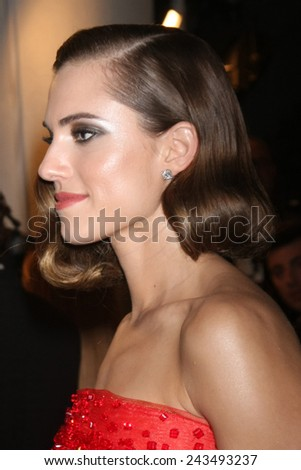 LOS ANGELES - JAN 11:  Allison Williams at the HBO Post Golden Globe Party at a Circa 55, Beverly Hilton Hotel on January 11, 2015 in Beverly Hills, CA - stock photo