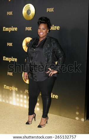 "LOS ANGELES - JAN 6:  Amber Riley at the FOX TV ""Empire"" Premiere Event at a ArcLight Cinerama Dome Theater on January 6, 2014 in Los Angeles, CA - stock photo"