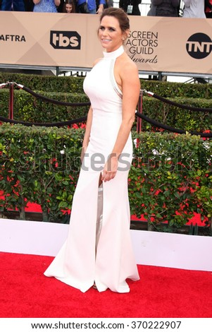 LOS ANGELES - JAN 30:  Amy Landecker at the 22nd Screen Actors Guild Awards at the Shrine Auditorium on January 30, 2016 in Los Angeles, CA - stock photo