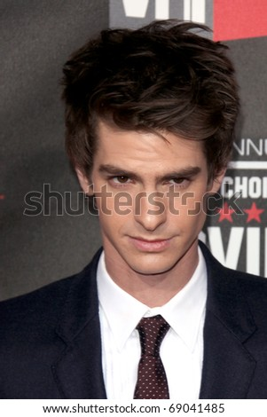 LOS ANGELES - JAN 14: Andrew Garfield arrives at the 16th Annual Critics' Choice Movie Awards at the Hollywood Palladium on January 14, 2011 in Los Angeles, CA - stock photo