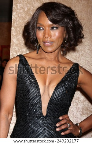 LOS ANGELES - JAN 12:  Angela Bassett at the HBO 2014 Golden Globe Party  at Beverly Hilton Hotel on January 12, 2014 in Beverly Hills, CA - stock photo