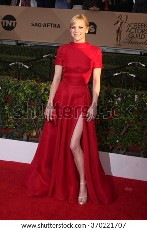 LOS ANGELES - JAN 30:  Anna Faris at the 22nd Screen Actors Guild Awards at the Shrine Auditorium on January 30, 2016 in Los Angeles, CA - stock photo