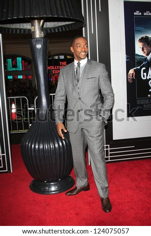 LOS ANGELES - JAN 7: Anthony Mackie at Warner Bros. Pictures' 'Gangster Squad' premiere at Grauman's Chinese Theater on January 7, 2013 in Los Angeles, California - stock photo