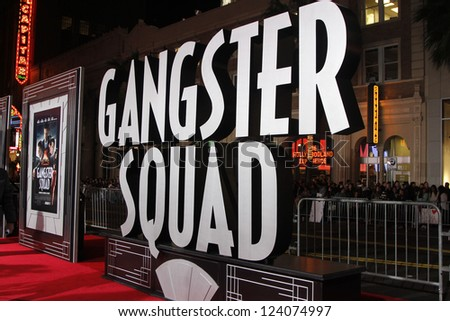 LOS ANGELES - JAN 7: Atmosphere at Warner Bros. Pictures' 'Gangster Squad' premiere at Grauman's Chinese Theater on January 7, 2013 in Los Angeles, California - stock photo