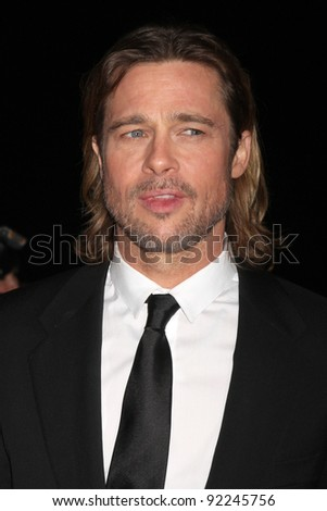 LOS ANGELES - JAN 7:  Brad Pitt arrives at the 2012 Palm Springs International Film Festival Gala at Palm Springs Convention Center on January 7, 2012 in Palm Springs, CA - stock photo