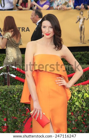LOS ANGELES - JAN 25:  Caitriona Balfe at the 2015 Screen Actor Guild Awards at the Shrine Auditorium on January 25, 2015 in Los Angeles, CA - stock photo