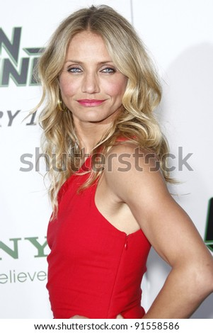 LOS ANGELES - JAN 10: Cameron Diaz at the premiere of 'The Green Hornet' at Grauman's Chinese Theater in Los Angeles, California on January 10, 2011 - stock photo