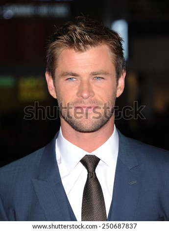 "LOS ANGELES - JAN 08:  Chris Hemsworth arrives to the ""Blackhat"" Los Angeles Premiere  on January 8, 2015 in Hollywood, CA                 - stock photo"