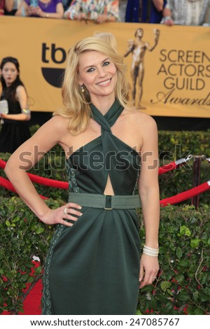 LOS ANGELES - JAN 25:  Claire Danes at the 2015 Screen Actor Guild Awards at the Shrine Auditorium on January 25, 2015 in Los Angeles, CA - stock photo