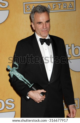 LOS ANGELES - JAN 27 - Daniel Day-Lewis arrives at the 19th Annual Screen Actors Guild Awards Press Room  on January 27, 2013 in Los Angeles, CA              - stock photo