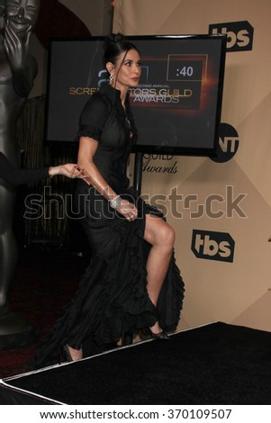 LOS ANGELES - JAN 30:  Demi Moore at the 22nd Screen Actors Guild Awards at the Shrine Auditorium on January 30, 2016 in Los Angeles, CA - stock photo