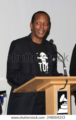 LOS ANGELES - JAN 28: Eric Kabera at the 30th Anniversary of 'We Are The World' at The GRAMMY Museum on January 28, 2015 in Los Angeles, California - stock photo