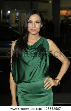 LOS ANGELES - JAN 23: Famke Janssen at the LA premiere of Paramount Pictures' 'Hansel And Gretel: Witch Hunters' at Grauman's Chinese Theater on January 24, 2013 in Los Angeles, California - stock photo