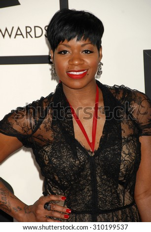 LOS ANGELES - JAN 26:  Fantasia arrives at the 56th Annual Grammy Awards Arrivals  on January 26, 2014 in Los Angeles, CA                 - stock photo