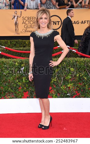 LOS ANGELES - JAN 25:  Felicity Huffman arrives to the 21st Annual Screen Actors Guild Awards  on January 25, 2015 in Los Angeles, CA                 - stock photo