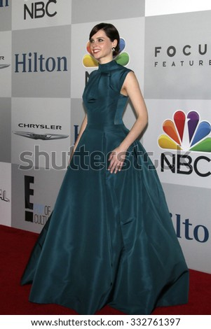 LOS ANGELES - JAN 11:  Felicity Jones at the NBC Post Golden Globes Party at a Beverly Hilton on January 11, 2015 in Beverly Hills, CA - stock photo