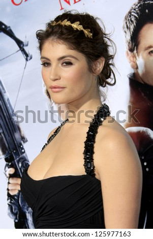 LOS ANGELES - JAN 24:  Gemma Arterton arrives at the the 'Hansel And Gretel: Witch Hunters' premiere at the Chinese Theat theer on January 24, 2013 in Los Angeles, CA - stock photo