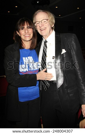 LOS ANGELES - JAN 28: Harriet Sternberg, Ken Kragen at the 30th Anniversary of 'We Are The World' at The GRAMMY Museum on January 28, 2015 in Los Angeles, California - stock photo