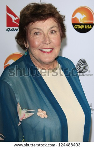 LOS ANGELES - JAN 12: Helen Reddy at the 2013 G'Day USA Los Angeles Black Tie Gala at JW Marriott on January 12, 2013 in Los Angeles, California - stock photo