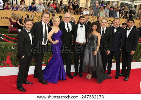 LOS ANGELES - JAN 25:  Homeland Cast members at the 2015 Screen Actor Guild Awards at the Shrine Auditorium on January 25, 2015 in Los Angeles, CA - stock photo