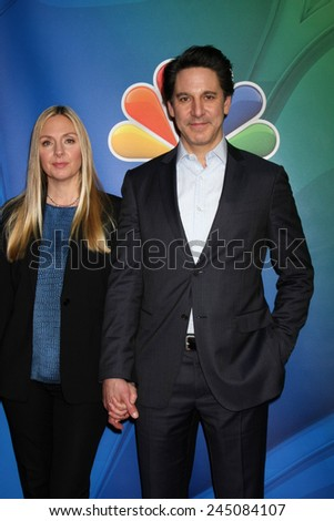 LOS ANGELES - JAN 16:  Hope Davis, Scott Cohen at the NBCUniversal TCA Press Tour at the Huntington Langham Hotel on January 16, 2015 in Pasadena, CA - stock photo
