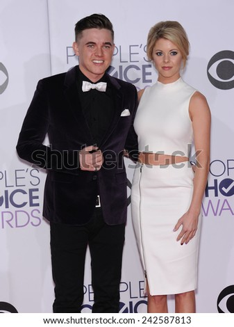 LOS ANGELES - JAN 07:  Jesse McCartney arrives to the People's Choice Awards 2014  on January 7, 2015 in Los Angeles, CA                 - stock photo