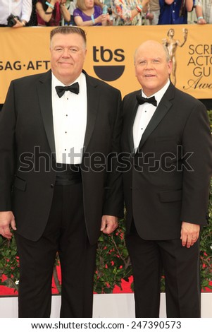LOS ANGELES - JAN 25:  Joel McKinnon Miller, Dirk Blocker at the 2015 Screen Actor Guild Awards at the Shrine Auditorium on January 25, 2015 in Los Angeles, CA - stock photo