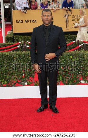 LOS ANGELES - JAN 25:  Jordan Peele at the 2015 Screen Actor Guild Awards at the Shrine Auditorium on January 25, 2015 in Los Angeles, CA - stock photo