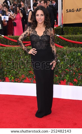 LOS ANGELES - JAN 25:  Julia Louis-Dreyfus arrives to the 21st Annual Screen Actors Guild Awards  on January 25, 2015 in Los Angeles, CA                 - stock photo