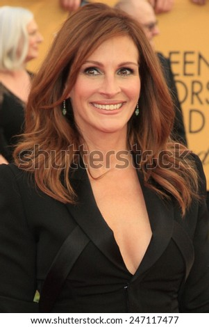 LOS ANGELES - JAN 25:  Julia Roberts at the 2015 Screen Actor Guild Awards at the Shrine Auditorium on January 25, 2015 in Los Angeles, CA - stock photo