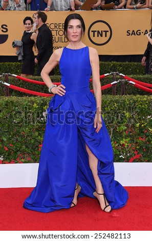 LOS ANGELES - JAN 25:  Julianna Margulies arrives to the 21st Annual Screen Actors Guild Awards  on January 25, 2015 in Los Angeles, CA                 - stock photo