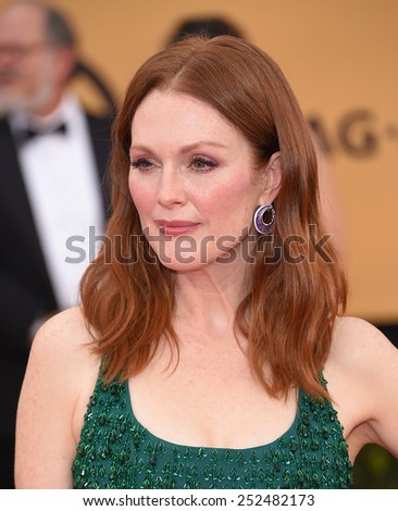 LOS ANGELES - JAN 25:  Julianne Moore arrives to the 21st Annual Screen Actors Guild Awards  on January 25, 2015 in Los Angeles, CA                 - stock photo
