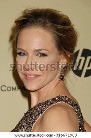 LOS ANGELES - JAN 13 - Julie Benz arrives at the 2013 Weinstein Company Golden Globes After Party  on January 13, 2013 in Beverly Hills, CA              - stock photo