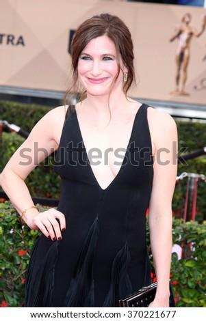 LOS ANGELES - JAN 30:  Kathryn Hahn at the 22nd Screen Actors Guild Awards at the Shrine Auditorium on January 30, 2016 in Los Angeles, CA - stock photo