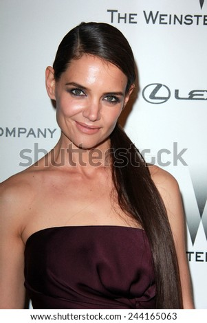 LOS ANGELES - JAN 11:  Katie Holmes at the The Weinstein Company / Netflix Golden Globes After Party at a Beverly Hilton Adjacent on January 11, 2015 in Beverly Hills, CA - stock photo