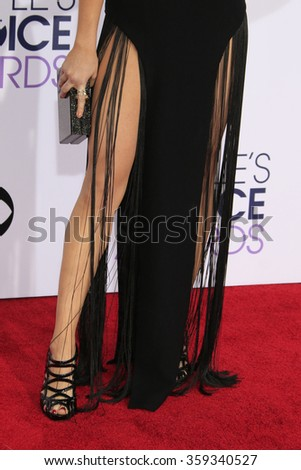 LOS ANGELES - JAN 6:  Katie Stevens at the Peoples Choice Awards 2016 - Arrivals at the Microsoft Theatre L.A. Live on January 6, 2016 in Los Angeles, CA - stock photo