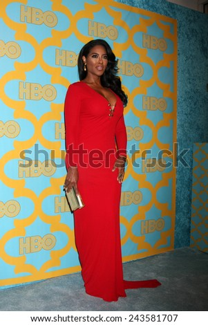 LOS ANGELES - JAN 11:  Kenya Moore at the HBO Post Golden Globe Party at a Circa 55, Beverly Hilton Hotel on January 11, 2015 in Beverly Hills, CA - stock photo