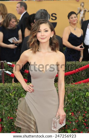 LOS ANGELES - JAN 25:  Kimiko Glenn at the 2015 Screen Actor Guild Awards at the Shrine Auditorium on January 25, 2015 in Los Angeles, CA - stock photo