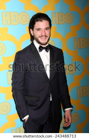 LOS ANGELES - JAN 11:  Kit Harrington at the HBO Post Golden Globe Party at a Circa 55, Beverly Hilton Hotel on January 11, 2015 in Beverly Hills, CA - stock photo