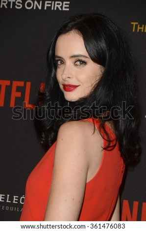 LOS ANGELES - JAN 10:  Krysten Ritter at the Weinstein Company & Netflix 2016 Golden Globe After Party at the Beverly Hilton on January 10, 2016 in Beverly Hills, CA - stock photo