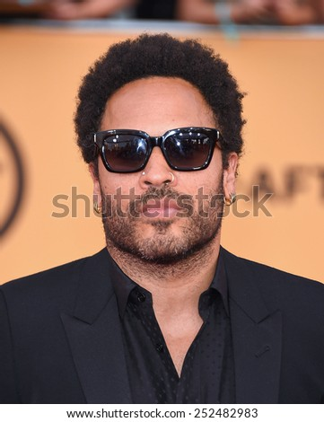 LOS ANGELES - JAN 25:  Lenny Kravitz  arrives to the 21st Annual Screen Actors Guild Awards  on January 25, 2015 in Los Angeles, CA                 - stock photo